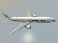 b 777-300 er japan 3d model