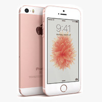apple iphone se rose 3d model