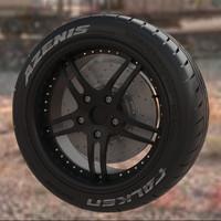 wheel falken azenis 3d dxf