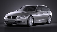 3d model of 2016 bmw touring