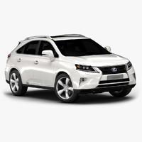 2015 lexus rx 450h 3d model