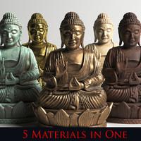 statue buddha 3d model