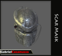 3d model of mask predator