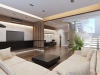 3d model interior modern apartment