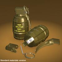 hand grenade dm51 3d model