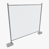 3d model of modular fence opacity