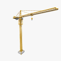 tower crane rt 3d model
