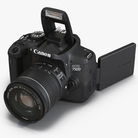 3d canon eos 750d model