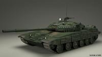 tank t72 t 3d model