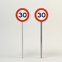 speed limit-30 3d model