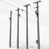3d model complete set power transmission