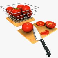 tomatoes half slice 3d model