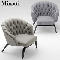 chair armchair minotti 3d model