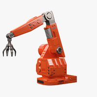 futuristic robotic arm 3d model