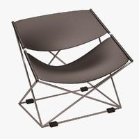 butterfly chair obj