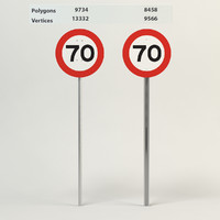 speed limit-70 3d max