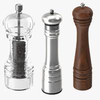 pepper grinders 3d model
