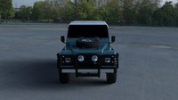 land rover defender 90 3d model