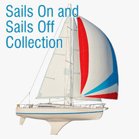 princess ii sailboat sail 3d model