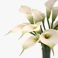 3ds lily callas bouquet