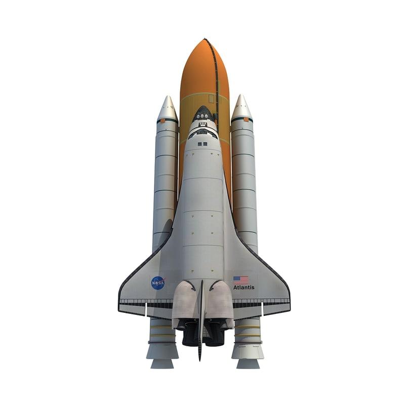 3d model nasa space shuttle atlantis
