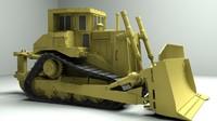 3d model cat dozer