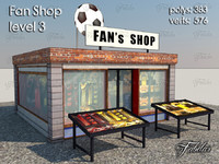 fan shop level 3 3d 3ds