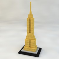 empire state building 3d c4d
