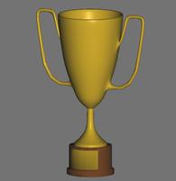 3d basic trophy model