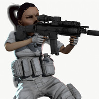 rigged ready soldier animation 3d model