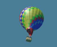 3d realistic air balloon