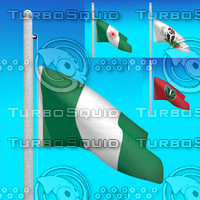 flags nigeria - animation 3d model