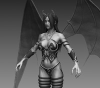 3d female fantasy creature model