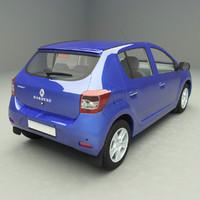 renault sandero ii 3d model