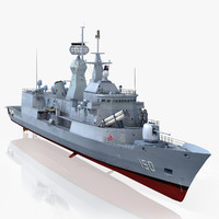 anzac class frigate hmas 3d max