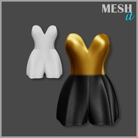 jumpsuit golden black 3d obj