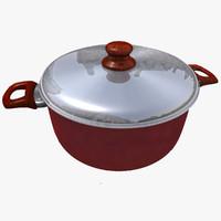 casserole pan 3d ma