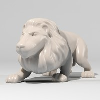 lion figurine 3d model
