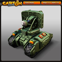 cartoon tank radar 3d model