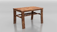 3d rustic table