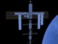 satellite artificial space 3d model