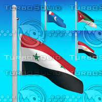 3d model flags syria -