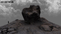 mountain rock 3d obj