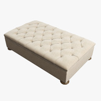 restoration hardware churchill upholstered 3d max