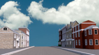 3d georgian street houses model