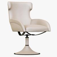 baxter paloma revolving chair 3d model