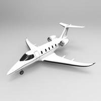 3d business jet model
