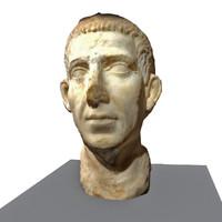 3d model bust roman