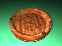 Wooden - ashtray v1 3D model