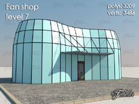 3d model fan shop level 7